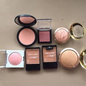 7 piece blush and bronzer bundle